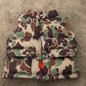 Ralph Lauren Reversible Vest, orange/ camo, 2T